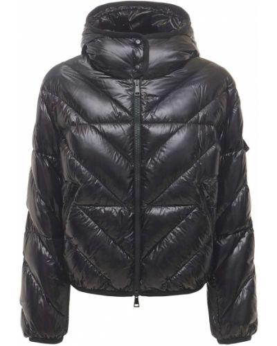 Czarna kurtka z kapturem z nylonu Moncler