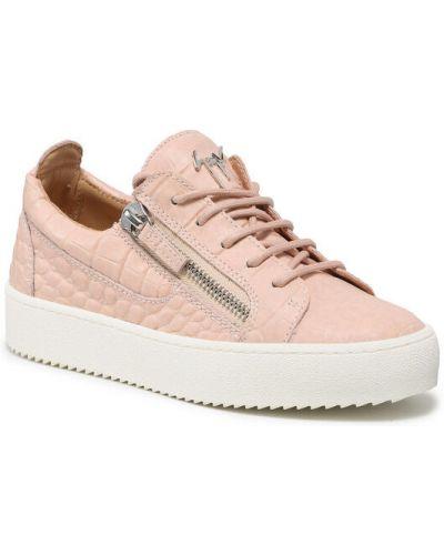 Różowe sneakersy Giuseppe Zanotti