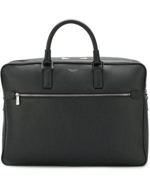 Кожаная сумка для ноутбука темно-синий Serapian