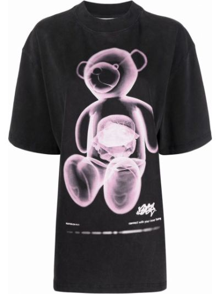 Czarna t-shirt z printem Eytys