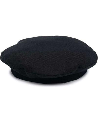 Czarna czapka wełniana Giorgio Armani
