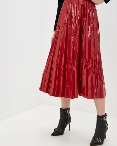 Джинсовая юбка кожаная красный Guess Jeans