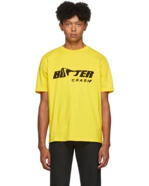 Хлопковая с рукавами черная рубашка с короткими рукавами с воротником Botter