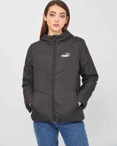Черная демисезонная куртка Puma