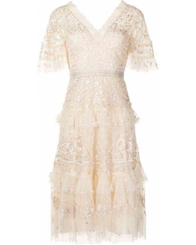 Белое платье из полиэстера Needle & Thread