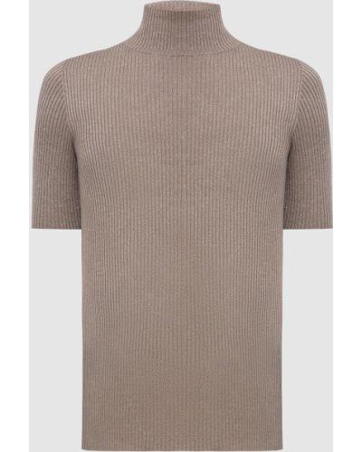 Бежевый свитер с люрексом Brunello Cucinelli
