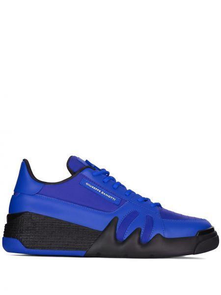 Ażurowy czarny włókienniczy sneakersy zasznurować Giuseppe Zanotti