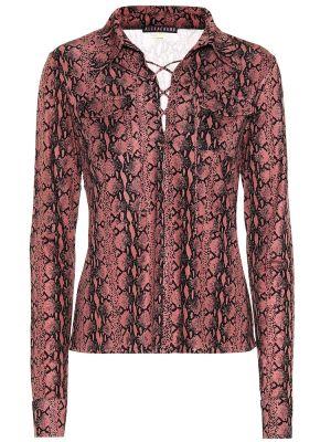 Różowy bluzka z wiskozy z dekoltem zabytkowe Alexachung