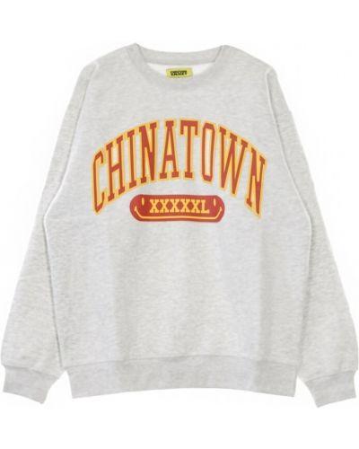 Szara bluza dresowa Chinatown Market