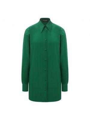 Зеленая итальянская блузка Dolce & Gabbana