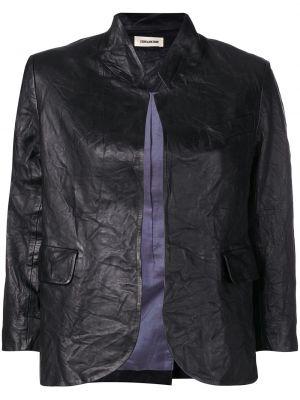 Черная куртка с воротником с карманами из вискозы Zadig&voltaire