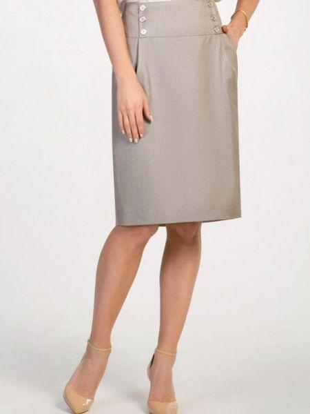 Бежевая юбка карандаш Petit Pas