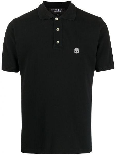 Czarna klasyczna koszula krótki rękaw bawełniana Hydrogen