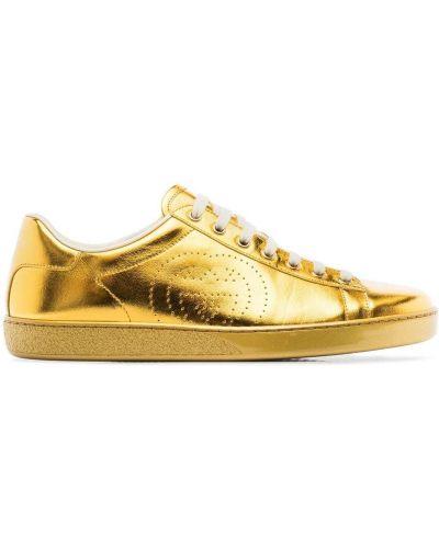 Buty sportowe skorzane Gucci