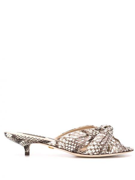 Открытые кожаные мюли на каблуке Dolce & Gabbana