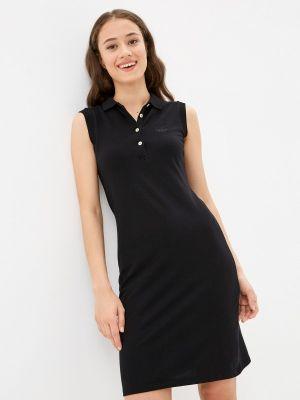 Черное платье осеннее Galvanni