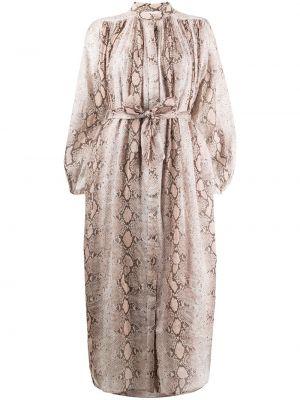 Платье макси длинное - коричневое Zimmermann