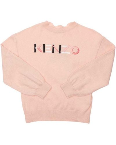 Кашемировый свитер - розовый Kenzo Kids