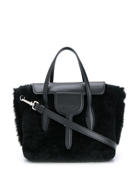 Skórzana torebka mini czarna Tod's