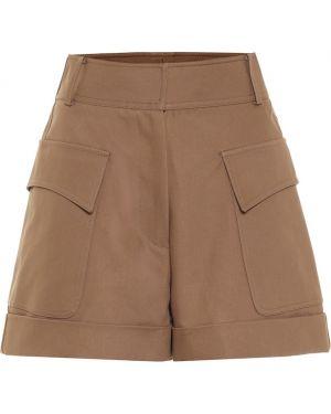 Хлопковые теплые шорты сафари Victoria Beckham