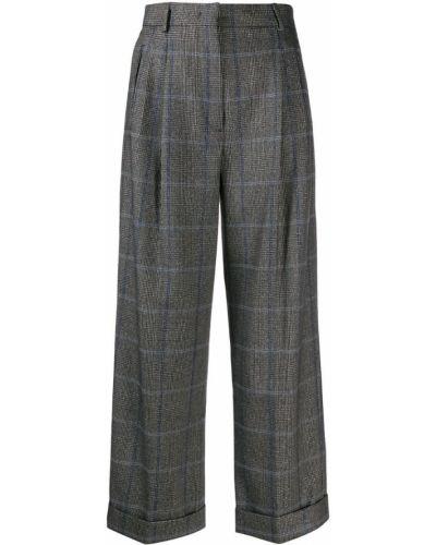 Шерстяные классические брюки - синие Max Mara Studio