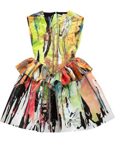 Satynowa sukienka mini - żółta Christopher Kane