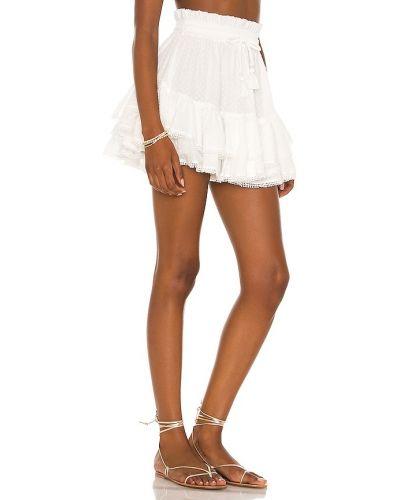 Biała spódnica z haftem Tularosa