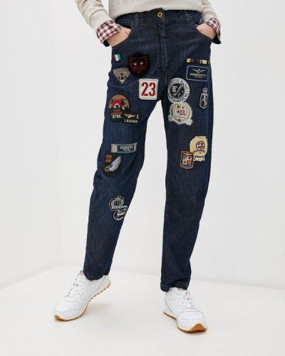 Синие джинсы Aeronautica Militare