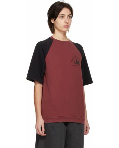 T-shirt bawełniana - czarne Raf Simons