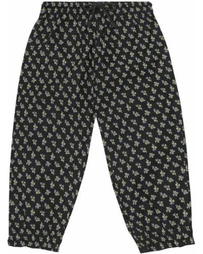 Ватные хлопковые черные брюки Caramel