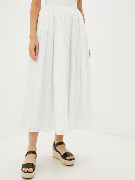 Белая юбка свободного кроя Laroom