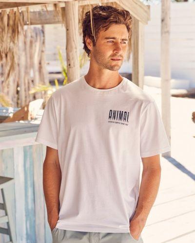T-shirt z printem - biała Mountain Warehouse