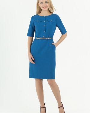 Платье миди на пуговицах с поясом Zip-art