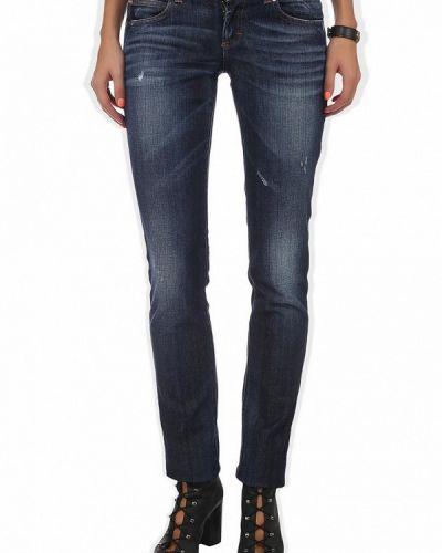 Синие прямые джинсы Galliano