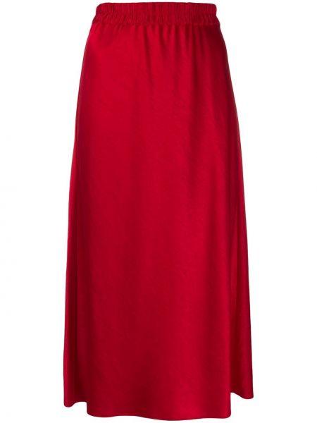 Прямая юбка миди с поясом в рубчик Theory