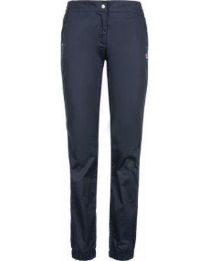 Хлопковые синие компрессионные спортивные брюки с карманами Fila