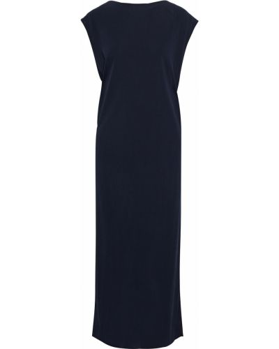 Sukienka midi z wiskozy - niebieska Helmut Lang