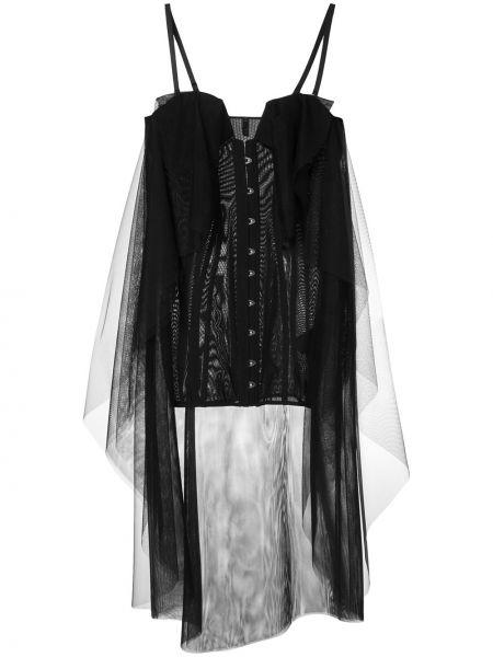 Платье на бретелях черное Unravel Project