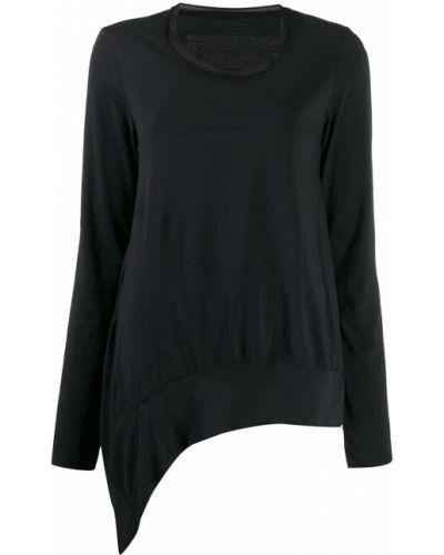 Черная асимметричная рубашка с воротником с сеткой Rundholz Black Label