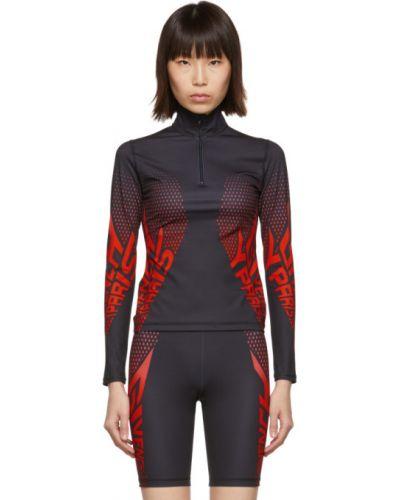 Z rękawami czarny długi sweter z kołnierzem z neoprenu Givenchy