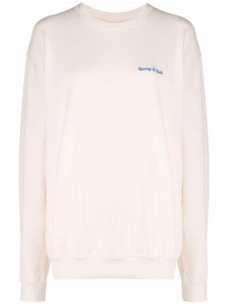 Biała bluza bawełniana Sporty And Rich