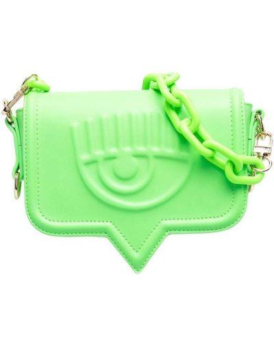 Zielona torebka na łańcuszku Chiara Ferragni