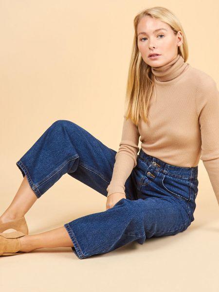 Широкие джинсы на пуговицах 12storeez