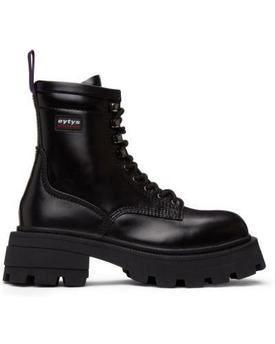 Черные ботинки на каблуке на платформе Eytys