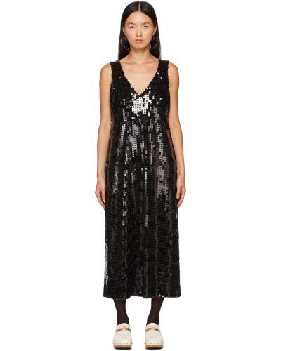 Черное платье сетчатое Anna Sui