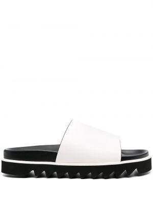 Открытые белые кожаные сандалии P.a.r.o.s.h.