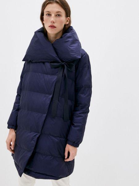Теплая синяя утепленная куртка Max&co