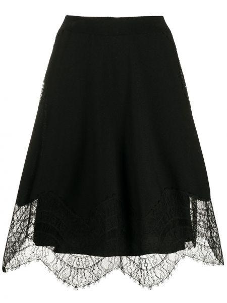 Юбка с завышенной талией со вставками Givenchy