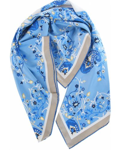 Голубой платок из шелка Cartier