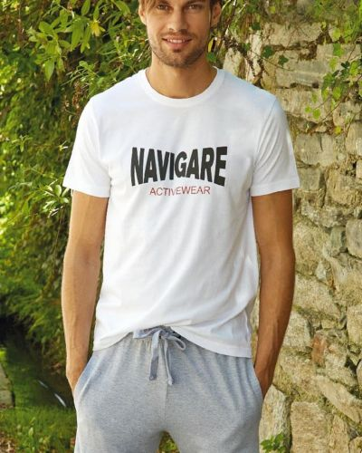 Хлопковая футболка - белая Navigare